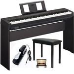 Kit Piano P45b + Fonte + Estante L85 + Banqueta + Pedal - Yamaha