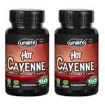 Kit 2 Pimenta Hot Cayenne Canela Gengibre - Unilife - 60 Cps