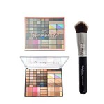 Kit Pincel Profissional Kabuki 3dhd + Paleta Inspiration Kit Ruby Rose Hb-9365