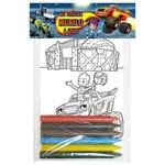Kit Pintura Blaze And The Monsters Machinescom 10 Unds