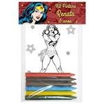 Kit Pintura Mulher Maravilha com 10 Unds
