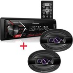 Kit Pioneer 6x9 400w + Radio Pioneer USB Mvh-s108ui Completo