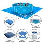 Kit Piscina 10.000L + Filtro+Cobertura Belfix+Piscina Inflável Mar Azul 180L-Mor