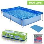 Kit Piscina Infantil 1000 Litros + Forro Retangular Estruturada - Mor