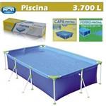 Kit Piscina Premium 3700 Litros + Capa + Forro Retengular - Mor