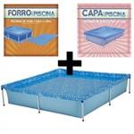 Kit Piscina Quadrada 1500 Litros + Capa e Forro Mor
