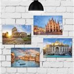 Kit Placa Decorativa MDF Fotos de Itália