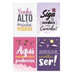 Kit Placa Decorativa MDF Frases Infantis Menina 4un