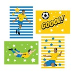 Kit Placa Decorativa MDF Futebol Gol 4un