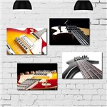 Kit Placa Decorativa Mdf Guitarra 4un 30x40