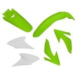 Kit Plásticos CRF 230 2008 a 2014 Verde/ Branco - Pro Tork