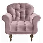Poltrona Cadeira Dani para Recepção Sala Escritório Quarto Suede Verde Musgo - AM DECOR