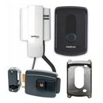 Kit Porteiro Interfone IPR 8010 Intelbras Residencial + Fechadura Elétrica AGL-inha 12V + Protetor