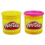 Kit 2 Potes Amarelo e Rosa Play Doh Hasbro