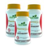 Kit 3 Potes Thermo Slim Cranberry 180 Cápsulas de 500mg Nutrivale