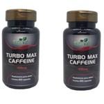 Kit 2 Potes Turbo Max Caffeine 120 Cápsulas Nutrivale