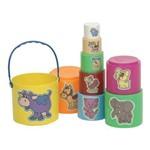 Kit Potinhos para o Bebê Colorido 479 - Pica-pau