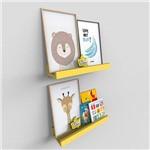 Kit 2 Prateleiras Coloridas Canaleta para Quadro e Fotos 40cm