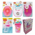 Kit Presente Bebê Menina 05 Peças Embalado para Presente