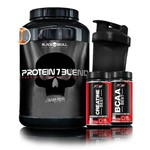 Kit Protein 7 Blend - Black Skull + Bcaa Best + Creatine Best + Coqueteleira Ftw
