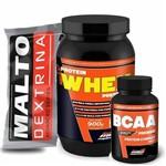Kit - Protein Whey Premium Series 900g Baunilha + Maltodextrina 1000g Refil Açaí C/ Guaraná + Bcaa Premium - 120 Tabletes - New Millen