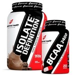 KIt Proteina Isolada ISOLATE DEFINITION 900g + Aminoácido BCAA 2400 200 Caps - Body Action
