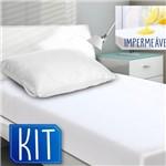 Kit Protetor de Colchão Solteiro Impermeável com 1 Protetor de Travesseiro Impermeável