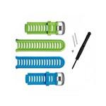Kit 2 Pulseiras para Relógio Forerunner 910xt Garmin 11251-23 Azul e Verde