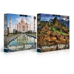Kit 2 Quebra-Cabeças 500 Peças- Machu Picchu e Taj Mahal - Toyster