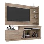 Kit Rack + Painel para Tv para Sala 183 Cm Cor Bege