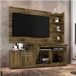 Kit Rack + Painel para Tv para Sala de Estar 183 Cm Cor Marrom Rústico