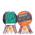 Kit Raquete Tenis de Mesa Effect Sort