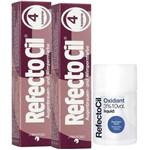 Kit Refectocil 2 Tinta + 1 Oxidante N° 4 Acaju