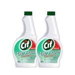 Kit Refil Cif Tira Limo Ultra Rapido com Cloro 500ml 2 Unidades