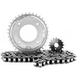 Kit Relação Biz C100 Aco 1045 Tec Chain