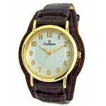 Kit Relógio Champion Feminino Pulseira Couro Cn20275w