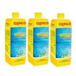 Kit 3 Removedor de Algas Genpool 1lt Genco para Piscina