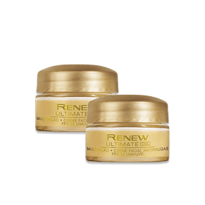 Kit Renew Ultimate Multiação Dia Creme Facial Antirrugas Fps 25 15g