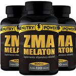 Kit 3 Repositor Muscular Zma Nutry Power 120 Cápsulas