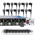 Kit Retorno de Palco 8 Pro Hamp-8 + 8 Fones Live-6