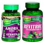 Kit Revitrol Uva Resveratrol e Amora Miura e Gérmen de Soja