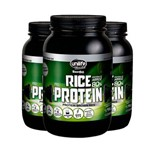 Kit 3 Rice Protein Proteína de Arroz Unilife 1kg Chocolate