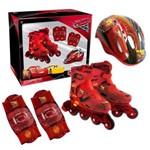 Kit Roller Patins Infantil Carros Disney Tamanho P Dtc