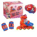 Kit Roller Patins Infantil Princesas Disney Tamanho P Dtc