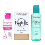 Kit Ruby Rose - Agua Micelar - Serum Magic Fix e Tônico Facial