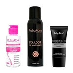 Kit Ruby Rose - Fixador Maquiagem, Primer Facial e Agua Micelar 200ml