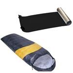 Kit Saco de Dormir Viper + Isolante Térmico Eva Aluminizado Nautika