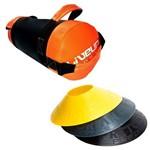 Kit Saco de Peso 5 Kg Core Bag Liveup Ls3093-5 + 12 Half Cones Chapéu Chinês Pretorian Hc-pp