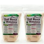 Kit 2 Sal Rosa do Himalaia Fino Moído 2kg Unilife