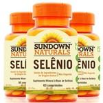 Kit 3 Selênio 34mcg Sundown 60 Cápsulas